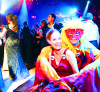 Pary Planner / Event Planner Miami - Young Lady and Clown at party planner Stu Feinstein's party